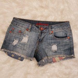 Dollhouse Shorts - Distressed jean shorts